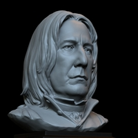Small Severus Snape (Alan Rickman) Harry potter bust portrait 153mm 3D Printing 729