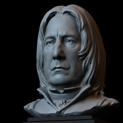 severus snape bust 6inches 3D Print 730