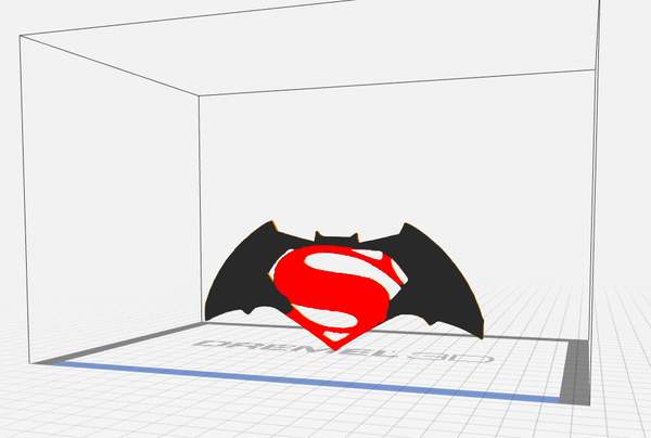 Medium Super Batarang 3D Printing 73027