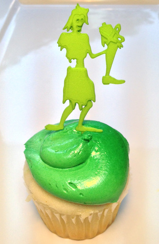 3d printed zombie cake topper leg present by waylon pinshape for 3d printer cake decoration