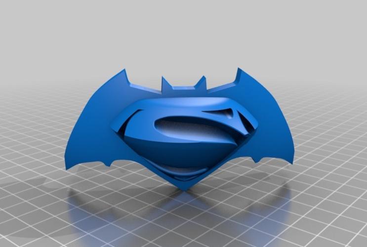 Batman Vs Superman Logo 3D Print 73293