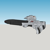 Small Star Fleet Mark III Phaser Rifle 3D Printing 73438