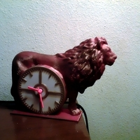Small Lion Clock 3D Printing 73526