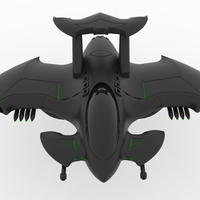 Small Batman Aircraft 3D Printing 73539