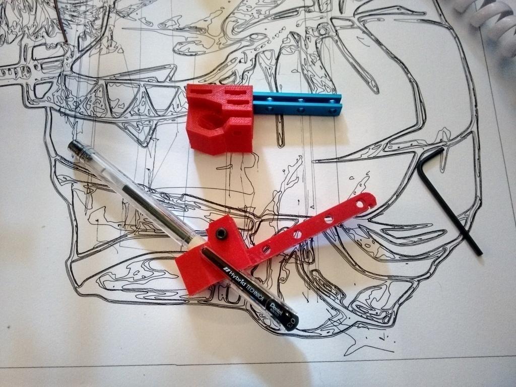3D Printed Makeblock Drawbot (XY Plotter) Pen Holder by