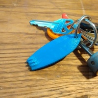 Small Surfboard Keychain 3D Printing 73669