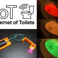 Small Smart Toilet Light IoT 3D Printing 73990