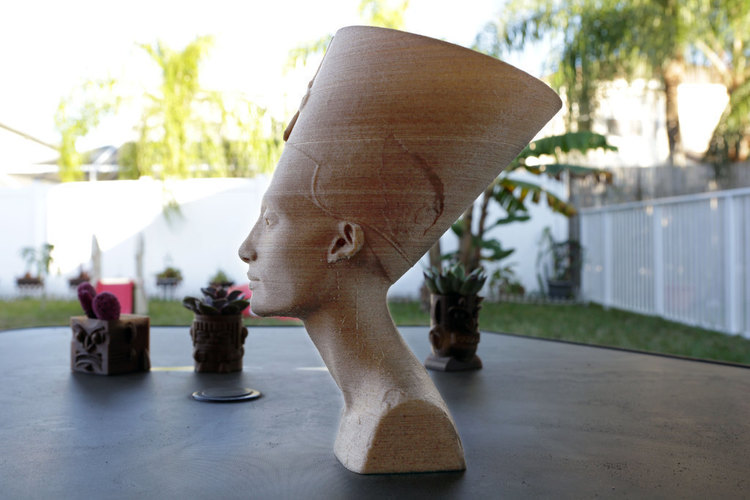Nefertiti Bust [Hollow] 3D Print 74006