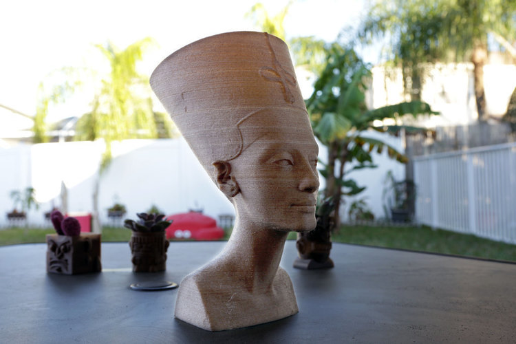 Nefertiti Bust [Hollow] 3D Print 74008
