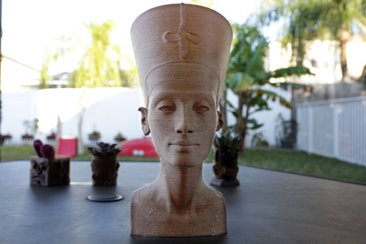 Nefertiti Bust [Hollow] 3D Print 74010