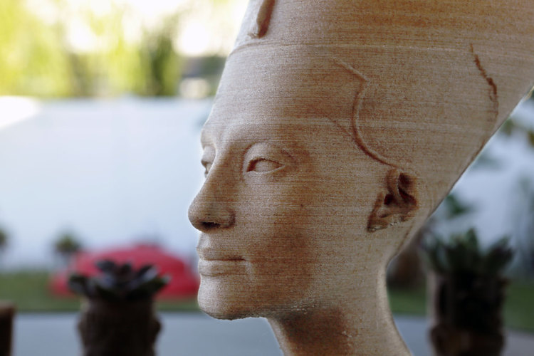 Nefertiti Bust [Hollow] 3D Print 74011
