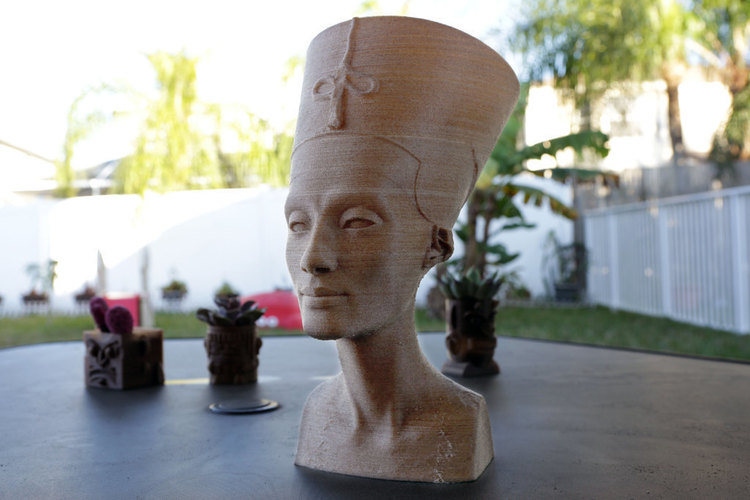 Nefertiti Bust [Hollow] 3D Print 74012