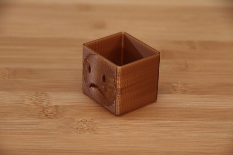 Sad Face Box 3D Print 74020