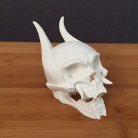 Small Oni Skull [hollowed] 3D Printing 74107
