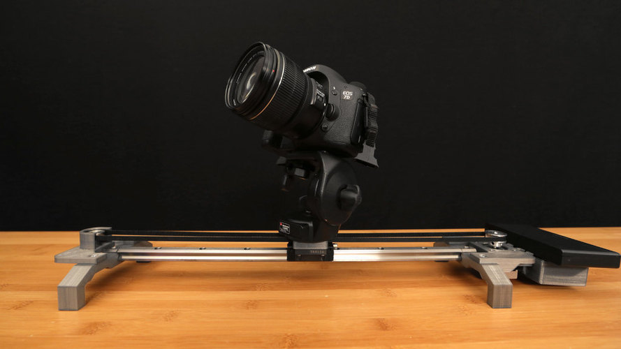 Bluetooth Motorized Camera Slider 3D Print 74122