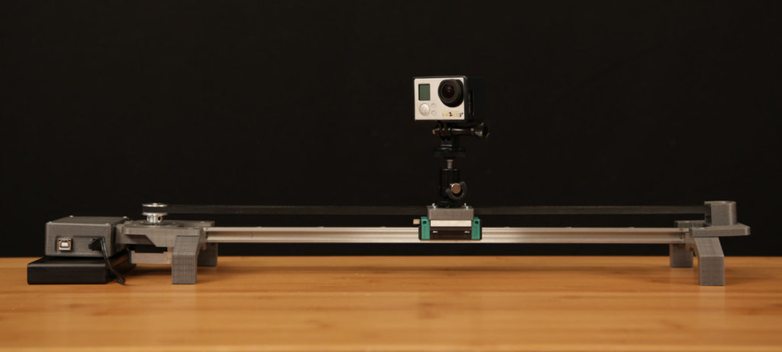 Bluetooth Motorized Camera Slider 3D Print 74125