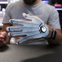 Small 3D Printed Flexible LED Glove 3D Printing 74162