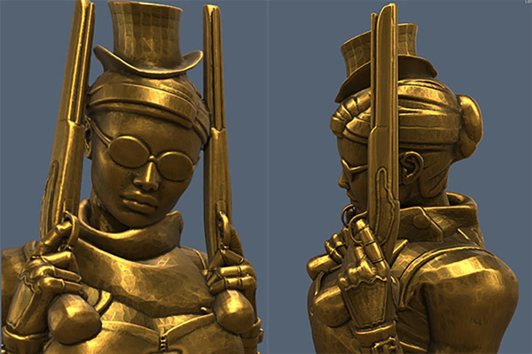 Medium Steampunk Lady : Zorana 3D Printing 74323
