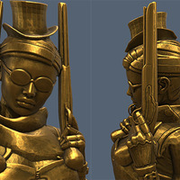 Small Steampunk Lady : Zorana 3D Printing 74323