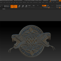 Small Celtic pattern with a snake 3D Printing 74633