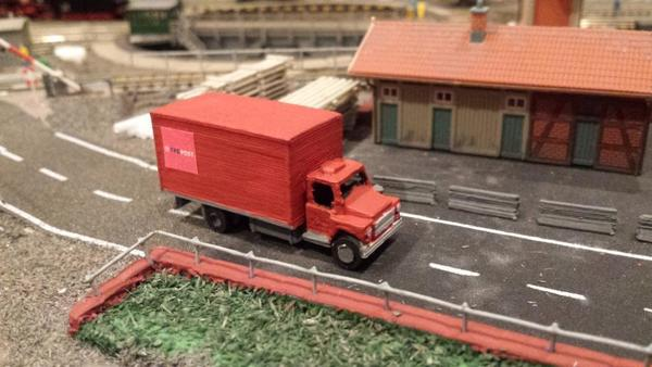 Medium n-scale 1:160 delivery van 3D Printing 74802
