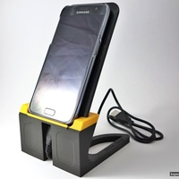 Small Tom's Samsung Galaxy S7 + Qi charger stand 3D Printing 75103