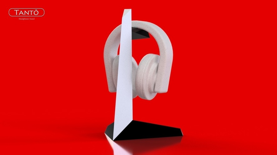 Tantō Headphone Stand 3D Print 75706