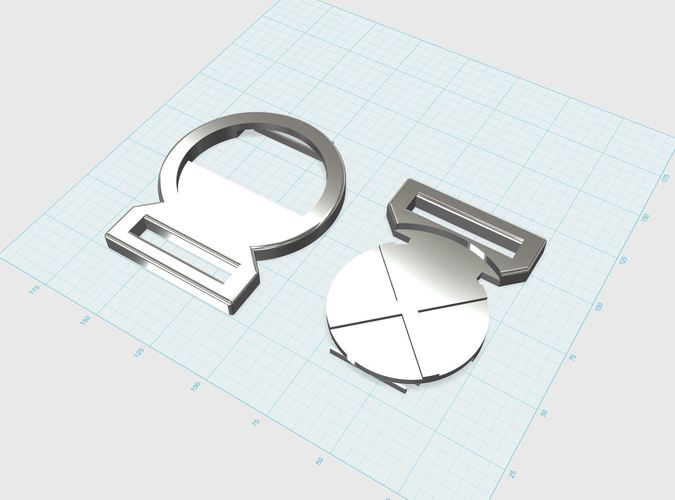X-Men belt buckle 3D Print 75739