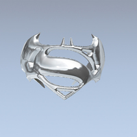 Small Batman v. Superman Ring 3D Printing 76008