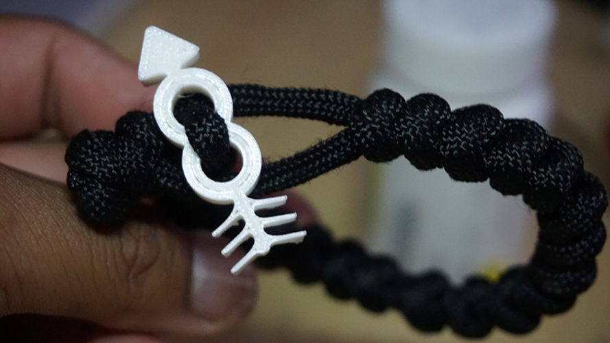 Hipster Arrow Paracord Loop end  3D Print 76341