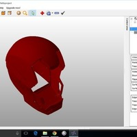 Small Ironman mk42 Helmet cleaned 3D Printing 76551