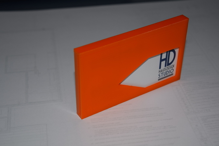 Business Card Holder 3D Print 76672