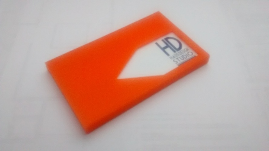 Business Card Holder 3D Print 76673