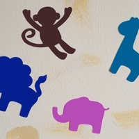Small Baby Animal Decals 3D Printing 76697