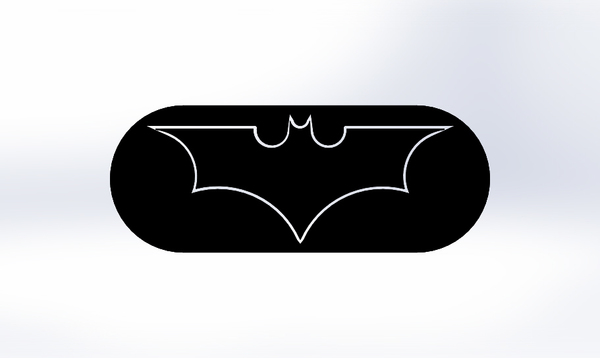 Medium Batman Logo-2 models in one STL file 3D Printing 76860