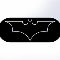 Small Batman Logo-2 models in one STL file 3D Printing 76860