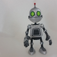 Small Clank Figure - Ratchet & Clank 3D Printing 76913
