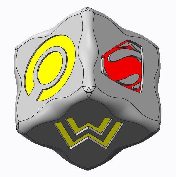 Medium Batman v Superman Dice Game(s) 3D Printing 76926