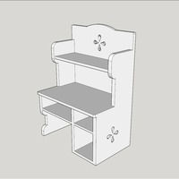 Small Sylvanian furniture + drawers 3D Printing 77624