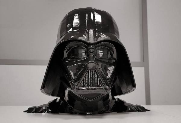 Medium Darth Vader bust - Easy print 3D Printing 77630