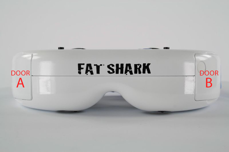 AG Fatshark Dominator Module Doors (LaForge and stock) 3D Print 77685