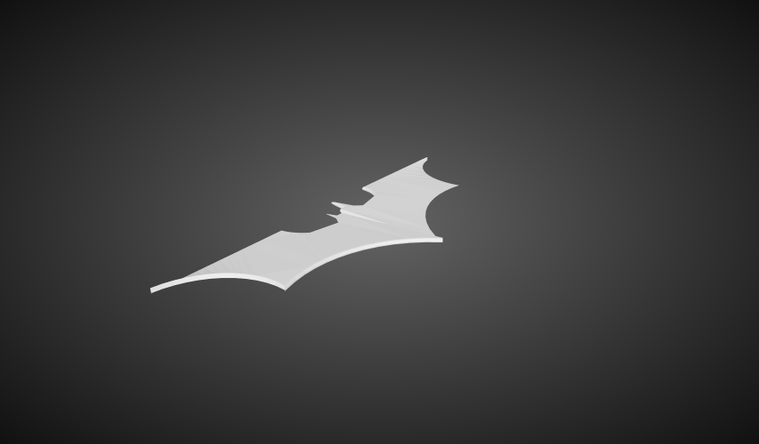 Returning Batarang 3D Print 77686