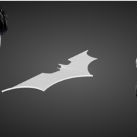 Small Returning Batarang 3D Printing 77803