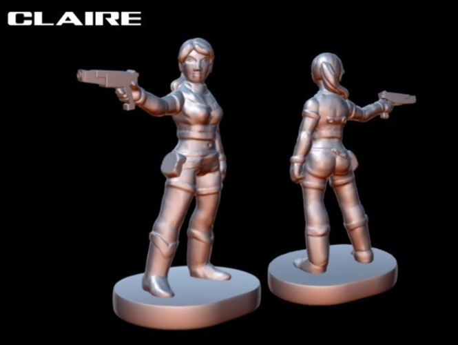 Resident Evil player pieces for Zombies!!! 3D Print 77869