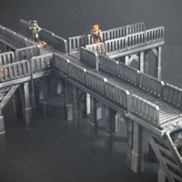 Small Modular Tech Catwalk (15mm scale) 3D Printing 77889