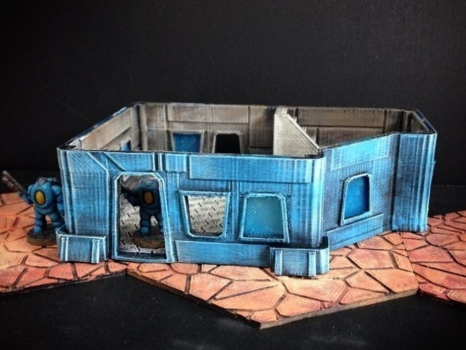 Modular Scifi Habs (15mm scale) 3D Print 77897