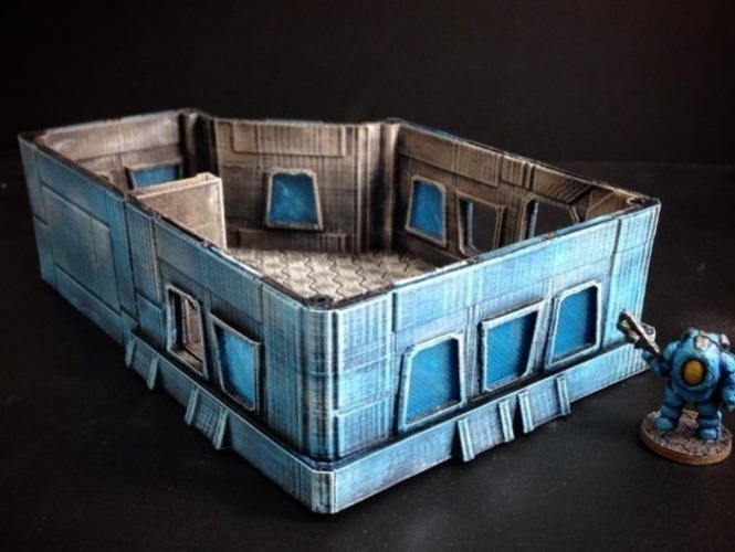 Modular Scifi Habs (15mm scale) 3D Print 77899