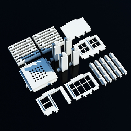 ​Printable Architectural Kit Free Sample 3D Print 7794