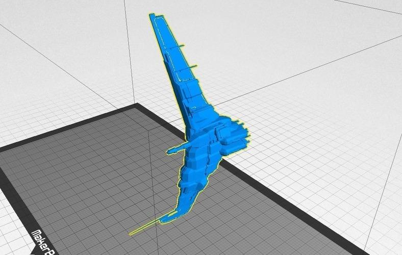 3D Printed Eve Online Minmatar Battlecruiser - Tornado by