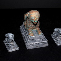 Small OpenForge 2.0 Lion Statues 3D Printing 78262